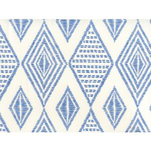 AP850-13 SAFARI EMBROIDERY Royal Blue On Almost White Quadrille Wallpaper