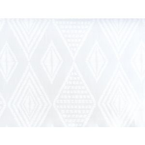 AP850-PV00 SAFARI EMBROIDERY White On Patent Vinyl Quadrille Wallpaper