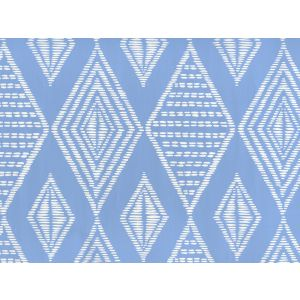 AP855-05 SAFARI French Blue On Almost White Quadrille Wallpaper