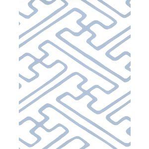 AP207-14 SAYA GATA Slate Blue Almost White Quadrille Wallpaper