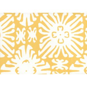2485WP-03 SIGOURNEY REVERSE SMALL SCALE Yellow On White Quadrille Wallpaper