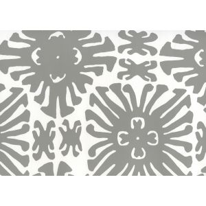 2475WP-06 SIGOURNEY SMALL SCALE Gray On White Quadrille Wallpaper