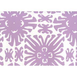 2475WP-05 SIGOURNEY SMALL SCALE Lavender On White Quadrille Wallpaper