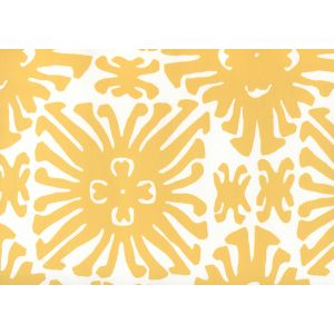 2475WP-03 SIGOURNEY SMALL SCALE Yellow On White Quadrille Wallpaper