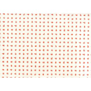 AP880-06AWP TATE Orange On Almost White Quadrille Wallpaper