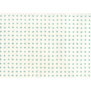 AP880-03AWP TATE Turquoise On Almost White Quadrille Wallpaper