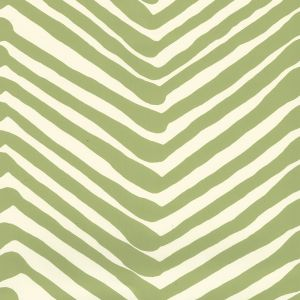 AP302-32 ZIG ZAG Jungle Green On Off White Quadrille Wallpaper