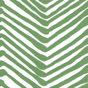 AP302-14AWP ZIG ZAG Leaf On Almost White Quadrille Wallpaper