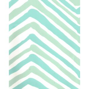 AP950-07 ZIG ZAG MULTI COLOR Aqua Light Turquoise On Almost White Quadrille Wallpaper