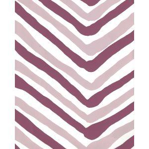 AP950-06 ZIG ZAG MULTI COLOR Lavender Purple On Almost White Quadrille Wallpaper