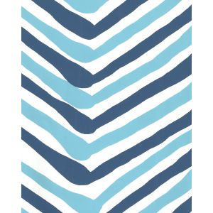 AP950-04 ZIG ZAG MULTI COLOR New Blue Navy On Almost White Quadrille Wallpaper