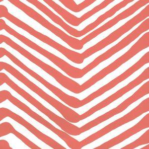 AP302-06 ZIG ZAG New Shrimp On Almost White Quadrille Wallpaper