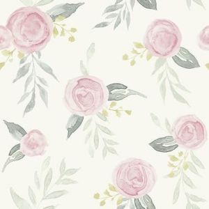 MK1125 Watercolor Roses York Wallpaper