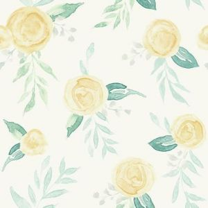 MK1127 Watercolor Roses York Wallpaper