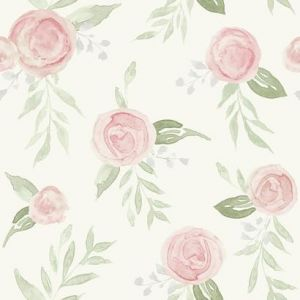 MK1128 Watercolor Roses York Wallpaper