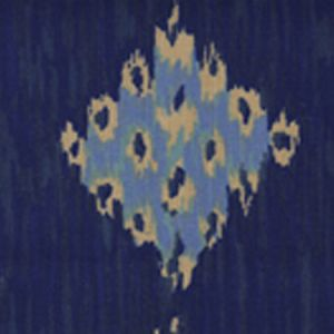 6230-01 IKAT II Multi Blues on Tint Quadrille Fabric