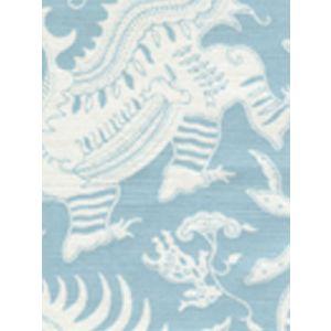 103-021 INDRAMAYU REVERSE Bali Blue on White Quadrille Fabric