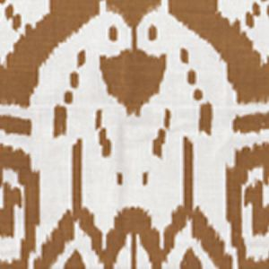6460-27 ISLAND IKAT Camel II on Tint Quadrille Fabric