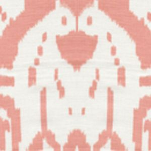 6460-34 ISLAND IKAT Light Salmon on White Quadrille Fabric