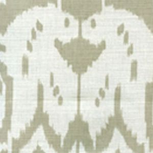 6460-31 ISLAND IKAT Dove Grey on White Quadrille Fabric