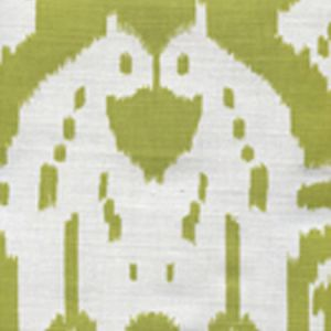 6460-09 ISLAND IKAT Palm Green on White Quadrille Fabric