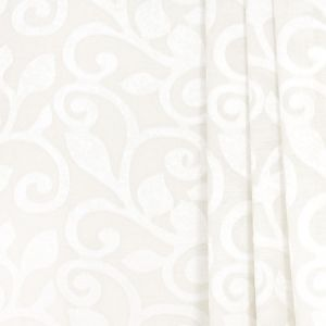 SCROLL AWAY Ivory Carole Fabric