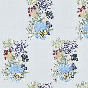 JM 00037072 COMBE MARTIN Azure Old World Weavers Fabric