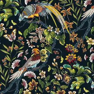 JP 00021340 BOTANY BAY Black Ruby Old World Weavers Fabric