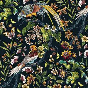 JP 00021340 BOTANY BAY Black Ruby Old World Weavers Fabric