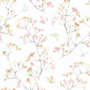 KI0514 Watercolor Branch York Wallpaper