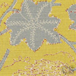 146-60 LES OISEAUX ENCHANTES Yellow Slate Quadrille Fabric