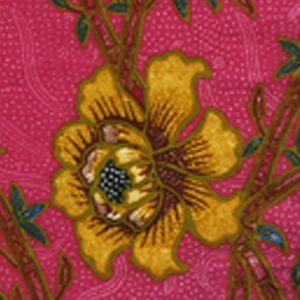 6060-09 LIM BAMBOO II Magenta Multi Quadrille Fabric