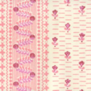 306293OWP LINKS II Multi Pinks On Off White Quadrille Wallpaper