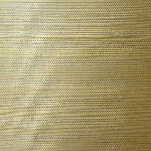 LN11864 Sisal Grasscloth Metallic Gold and Aloe Seabrook Wallpaper