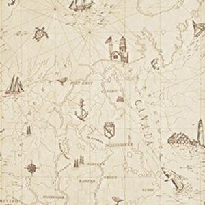 LWP68596W SEARSPORT MAP Bone Ralph Lauren Wallpaper
