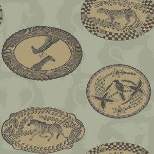109/4021-CS MATRINAH Old Olive Cole & Son Wallpaper