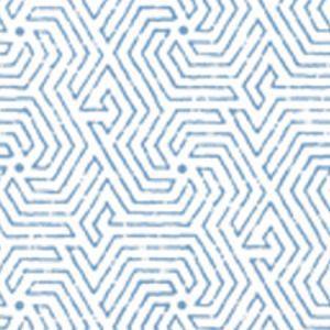 2510-08WP MAZE French Blue Quadrille Wallpaper