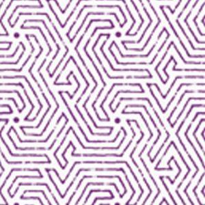 2510-12WP MAZE Purple White Quadrille Wallpaper