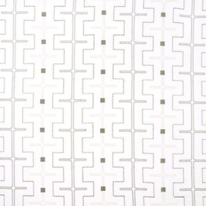 MAZE AWAY White Carole Fabric