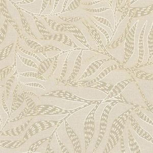391552 Montrose Leaves Beige Brewster Wallpaper
