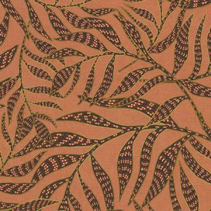 391554 Montrose Leaves Coral Brewster Wallpaper
