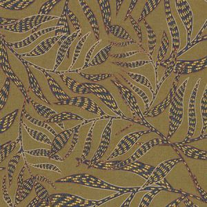 391551 Montrose Leaves Olive Brewster Wallpaper