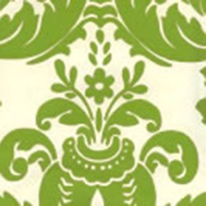 302162W MONTY Apple Green On Off White Quadrille Wallpaper