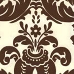 302165W MONTY Monty Sable Brown On Off White Quadrille Wallpaper