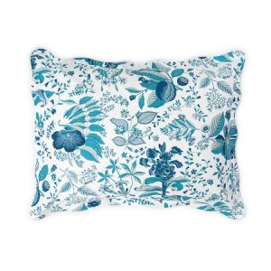 MSC006BSHAPH POMEGRANATE Prussian Blue Schumacher Boudoir Sham