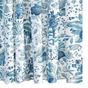 MSC006SHOPH POMEGRANATE Prussian Blue Schumacher Shower Curtain