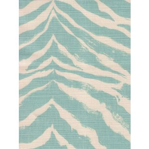 8020-02 NAIROBI PETITE Aqua on Tint Quadrille Fabric