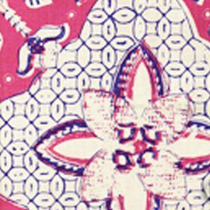 6430-02 NEW BATIK Magenta New Navy on Tint Quadrille Fabric