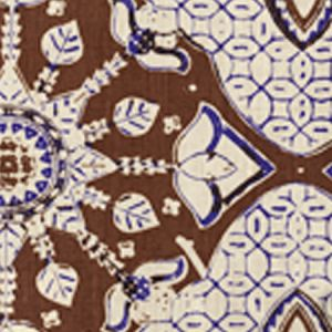 6430T-07 NEW BATIK New Brown New Navy on Tan Quadrille Fabric