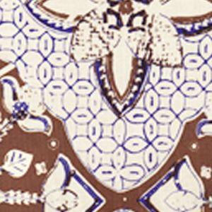 6430-07 NEW BATIK New Brown New Navy on Tint Quadrille Fabric
